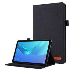 Huawei M5 Lite 8.0 hoes - Book Case met Soft TPU houder - Zwart