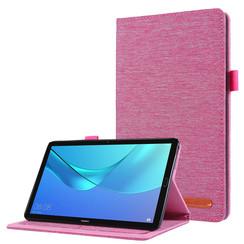 Huawei M5 Lite 8.0 hoes - Book Case met Soft TPU houder - Roze