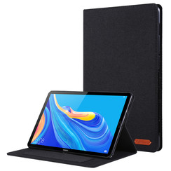 Huawei Mediapad M6 8.4 inch hoes - Book Case met Soft TPU houder - Zwart