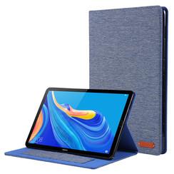 Huawei Mediapad M6 8.4 inch hoes - Book Case met Soft TPU houder - Blauw