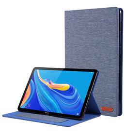 Case2go Huawei Mediapad M6 8.4 inch hoes - Book Case met Soft TPU houder - Blauw