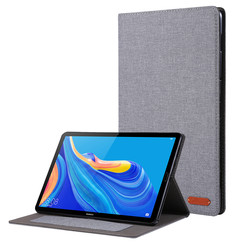 Huawei Mediapad M6 8.4 inch hoes - Book Case met Soft TPU houder - Grijs