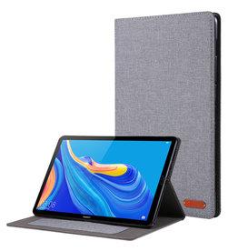 Case2go Huawei Mediapad M6 8.4 inch hoes - Book Case met Soft TPU houder - Grijs