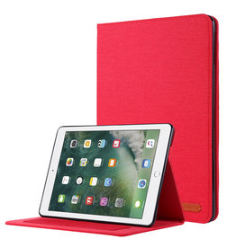 Case2go iPad 9.7 (2017/2018) hoes - Book Case met Soft TPU houder - Rood