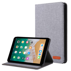 iPad Mini 4/5 (2019) hoes - Book Case met Soft TPU houder - Grijs