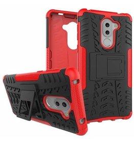 Case2go Honor 6X Schokbestendige Back Cover Rood