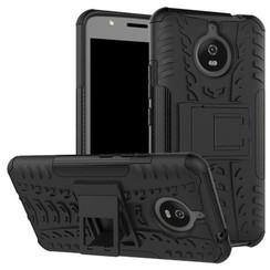 Motorola Moto E Plus 4th gen Schokbestendige Back Cover Zwart