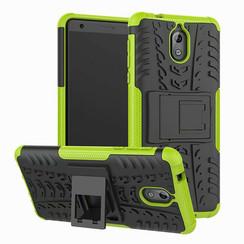 Nokia 2.1 2018 - Schokbestendige Back Cover - Groen