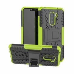 Xiaomi Pocophone F1 hoes - Schokbestendige Back Cover - Groen