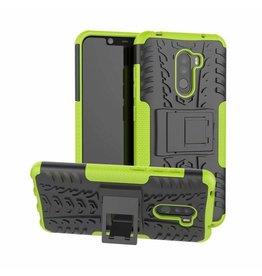 Case2go Xiaomi Pocophone F1 hoes - Schokbestendige Back Cover - Groen