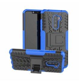 Case2go Xiaomi Pocophone F1 hoes - Schokbestendige Back Cover - Blauw