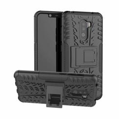 Xiaomi Pocophone F1 hoes - Schokbestendige Back Cover - Zwart