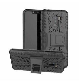 Case2go Xiaomi Pocophone F1 hoes - Schokbestendige Back Cover - Zwart