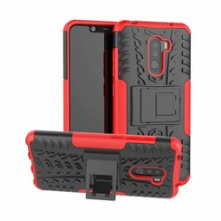 Xiaomi Pocophone F1 hoes - Schokbestendige Back Cover - Rood