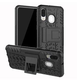 Case2go Samsung Galaxy A40 hoes - Schokbestendige Back Cover - Zwart