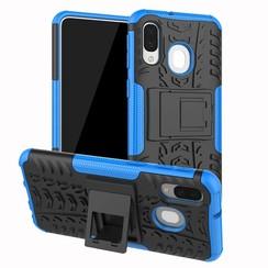 Samsung Galaxy A40 hoes - Schokbestendige Back Cover - Blauw
