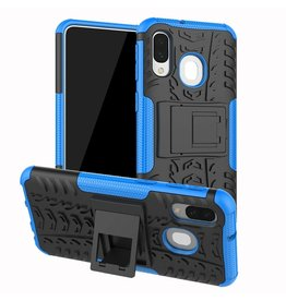 Case2go Samsung Galaxy A40 hoes - Schokbestendige Back Cover - Blauw