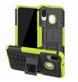 Case2go Samsung Galaxy A40 hoes - Schokbestendige Back Cover - Groen