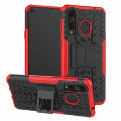 Samsung Galaxy A40 hoes - Schokbestendige Back Cover - Rood