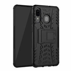 Samsung Galaxy A30 hoes - Schokbestendige Back Cover - Zwart