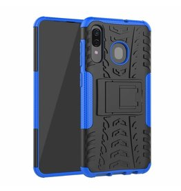 Case2go Samsung Galaxy A30 hoes - Schokbestendige Back Cover - Blauw