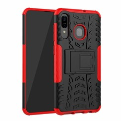 Samsung Galaxy A30 hoes - Schokbestendige Back Cover - Rood
