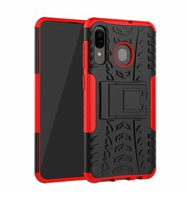 Case2go Samsung Galaxy A30 hoes - Schokbestendige Back Cover - Rood