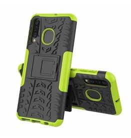Case2go Samsung Galaxy A50 hoes - Schokbestendige Back Cover - Groen