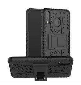 Case2go Samsung Galaxy M20 hoes - Schokbestendige Back Cover - Zwart