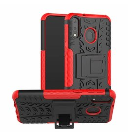 Case2go Samsung Galaxy M20 hoes - Schokbestendige Back Cover - Rood