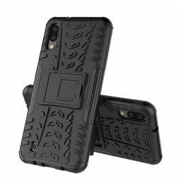 Case2go Samsung Galaxy M10 hoesje - Schokbestendige Back Cover - Zwart