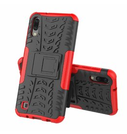 Case2go Samsung Galaxy M10 hoes - Schokbestendige Back Cover - Rood