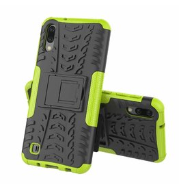 Case2go Samsung Galaxy M10 hoes - Schokbestendige Back Cover - Groen