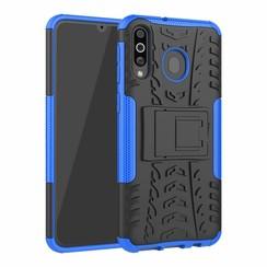 Samsung Galaxy M30 hoes - Schokbestendige Back Cover - Blauw