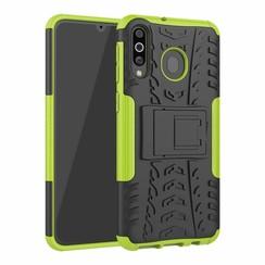 Samsung Galaxy M30 hoes - Schokbestendige Back Cover - Groen