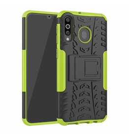 Case2go Samsung Galaxy M30 hoes - Schokbestendige Back Cover - Groen