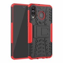 Samsung Galaxy M30 hoes - Schokbestendige Back Cover - Rood