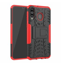 Case2go Samsung Galaxy M30 hoes - Schokbestendige Back Cover - Rood
