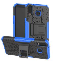 Samsung Galaxy A6s hoes - Schokbestendige Back Cover - Blauw