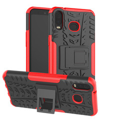 Samsung Galaxy A6s hoes - Schokbestendige Back Cover - Rood