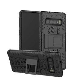 Case2go Samsung Galaxy S10 Plus hoes - Schokbestendige Back Cover - Zwart