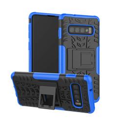 Samsung Galaxy S10 Plus hoes - Schokbestendige Back Cover - Blauw