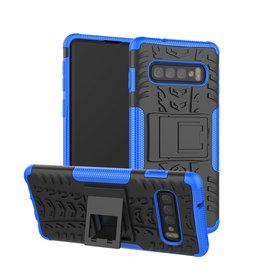 Case2go Samsung Galaxy S10 Plus hoes - Schokbestendige Back Cover - Blauw