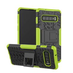 Samsung Galaxy S10 Plus hoes - Schokbestendige Back Cover - Groen