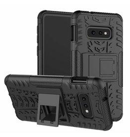 Case2go Samsung Galaxy S10e hoes - Schokbestendige Back Cover - Zwart