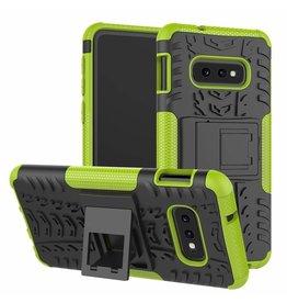 Case2go Samsung Galaxy S10e hoes - Schokbestendige Back Cover - Groen