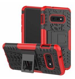 Case2go Samsung Galaxy S10e hoes - Schokbestendige Back Cover - Rood