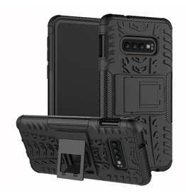 Case2go Samsung Galaxy S10 hoes - Schokbestendige Back Cover - Zwart