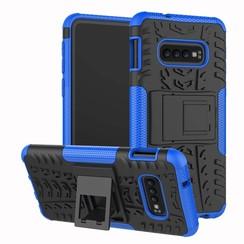 Samsung Galaxy S10 hoes - Schokbestendige Back Cover - Blauw