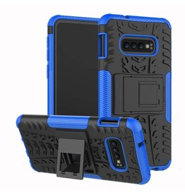 Case2go Samsung Galaxy S10 hoes - Schokbestendige Back Cover - Blauw